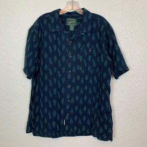 Woolrich mens XL short sleeve button front shirt